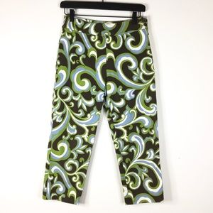 Talbots patterned capri pants